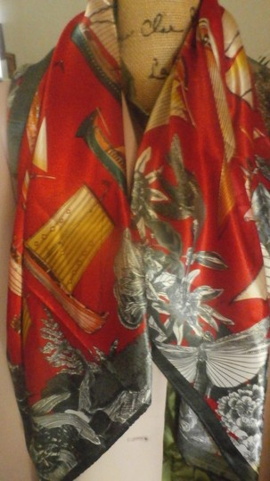 Other NEW GORGEOUS MULTI COLOR POLYESTER SCARF 35X35