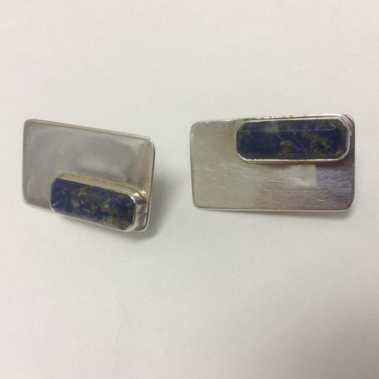 Other Lapis Lazuli Stud Earrings Sterling Silver