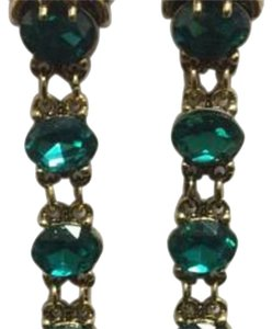 Other Lion Head Gold Electroplated Emerald Sinox Crystals Post Earrings