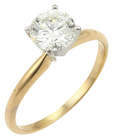 Preload https://item5.tradesy.com/images/yellow-and-white-gold-new-round-cut-100ct-j-vs1-solitaire-diamond-14k-engagement-ring-21294464-0-1.jpg?width=440&height=440
