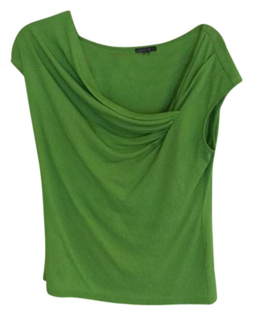 Preload https://item3.tradesy.com/images/lafayette-148-new-york-green-silk-draped-blouse-size-8-m-21294467-0-1.jpg?width=400&height=650