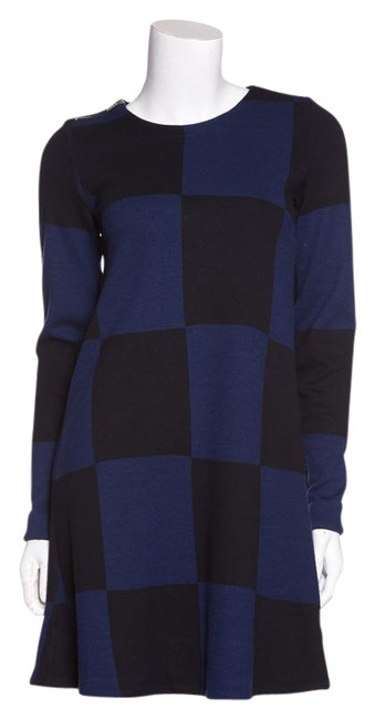Preload https://img-static.tradesy.com/item/21294490/marc-by-marc-jacobs-blue-and-black-check-knit-short-casual-dress-size-2-xs-0-1-650-650.jpg
