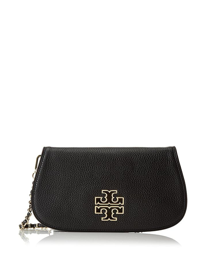 Clutch Britten Crossbody Tory Leather Burch Black wgU6xYq