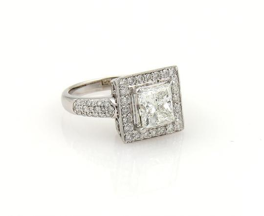 Other Princess Cut 2.58 Diamond Solitaire wAccent 18k Gold Engagement Ring