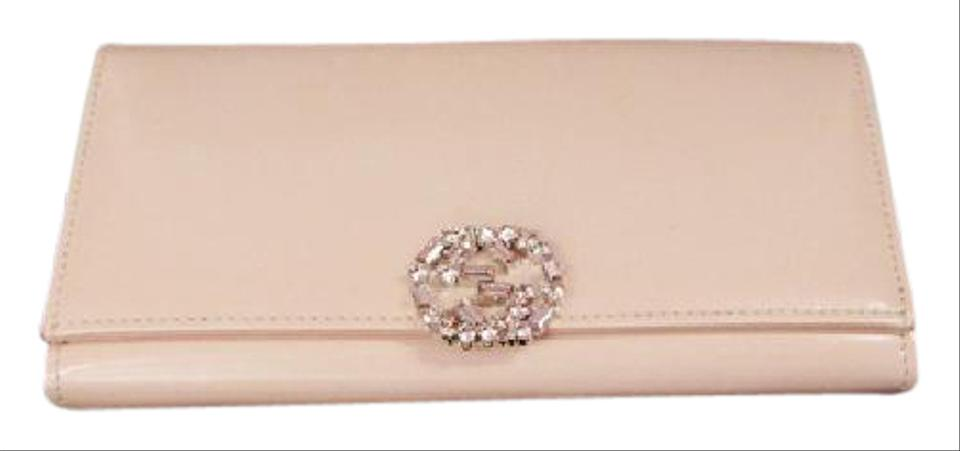 0416a7abba54 Gucci GUCCI WALLET SALMON LEATHER SWAROVSKI CRYSTALS JEWEL EMBELLISHED PINK  Image 0 ...