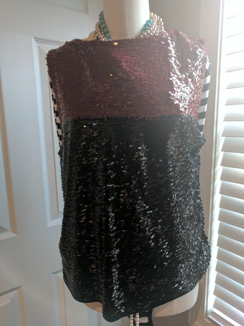J.Crew Collection Sequin Top Multi Blue/Red
