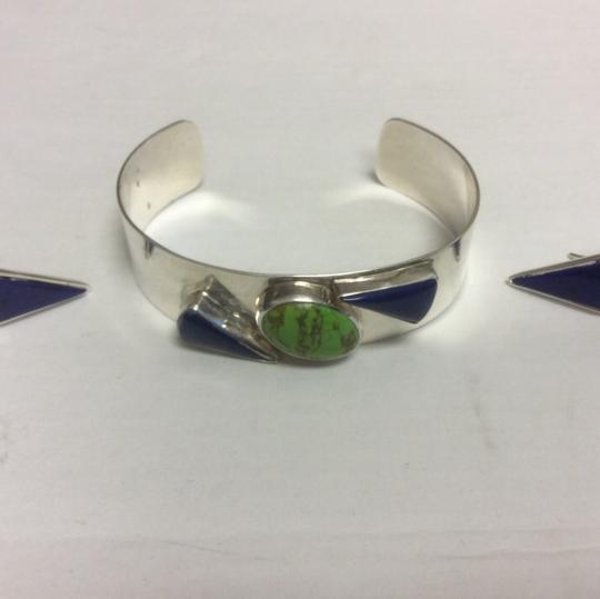 Other Sterling Silver Cuff and Earring Set