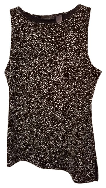 Preload https://item1.tradesy.com/images/liz-claiborne-brown-with-ivory-print-tunic-length-tank-topcami-size-16-xl-plus-0x-21294715-0-1.jpg?width=400&height=650