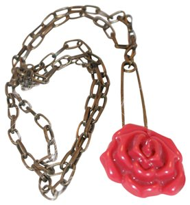 Other Antiqued Rose Necklace
