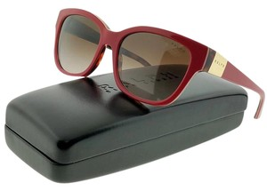 Ralph Lauren RA5208-151213 Women's Red Frame Brown Lens Sunglasses NWT