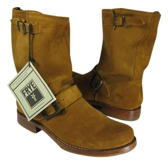 Preload https://img-static.tradesy.com/item/21294765/frye-brown-new-women-s-veronica-short-cognac-suede-leather-bootsbooties-size-us-75-regular-m-b-0-1-540-540.jpg