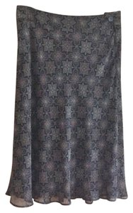 Covington Polyester Skirt Black and tan