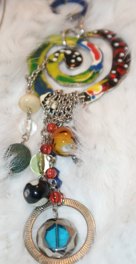Other Multi Colored Bohemian Heart Necklace