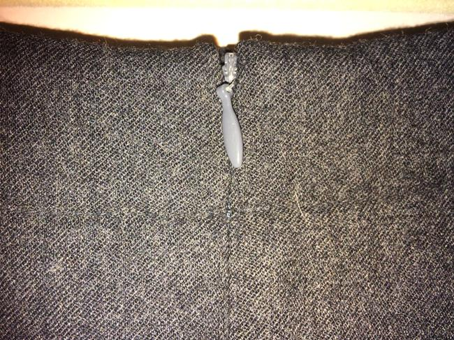 Talbots Pencil Wool Skirt Charcoal gray