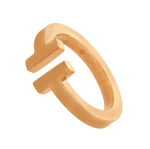 Tiffany & Co. Tiffany & Co 18K Rose Gold T Wire Band Ring Size 5.5