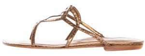 Manolo Blahnik Gold Sandals