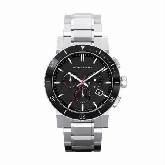 Preload https://item1.tradesy.com/images/burberry-silver-black-dial-chronograph-stainless-steel-mens-bu9380-watch-21294975-0-0.jpg?width=440&height=440
