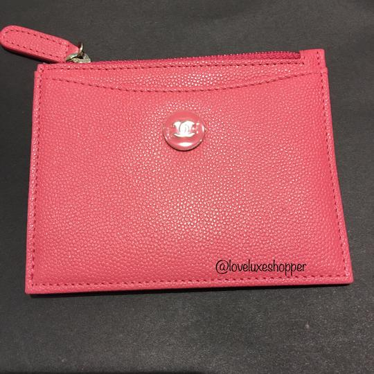 Chanel BN Chanel Pink Coral Card Holder