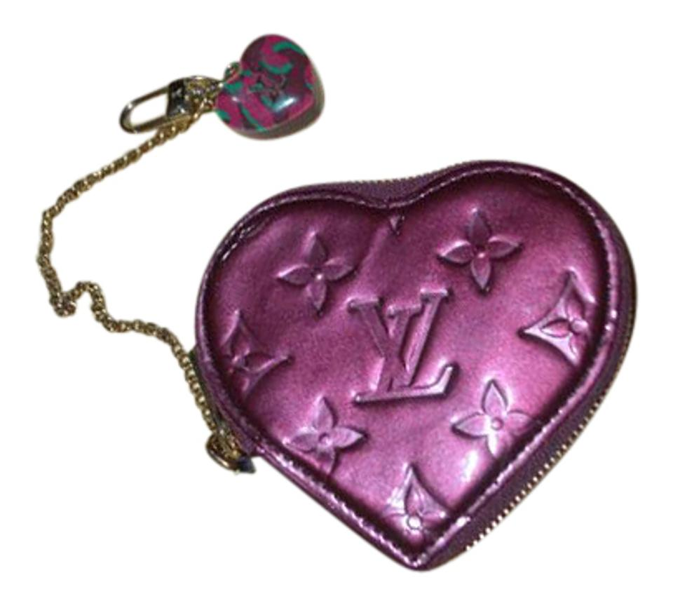 3b4bc28c5911 Louis Vuitton Limited Edition Stephen Sprouse Vernis Heart Coin Purse Wallet  ...