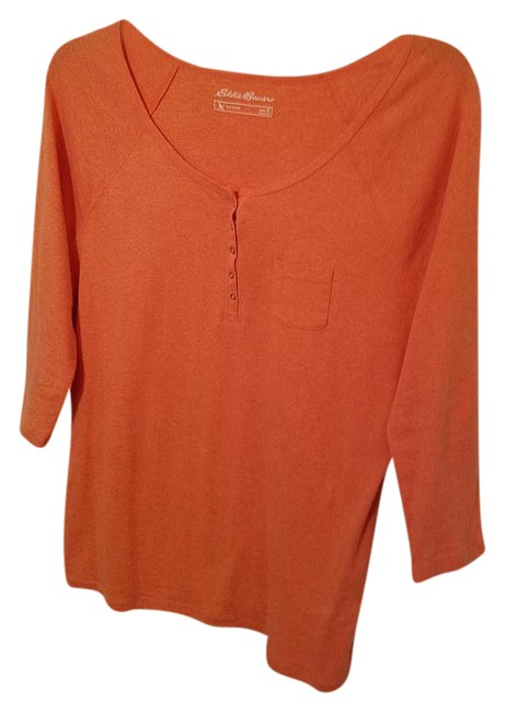 Preload https://item4.tradesy.com/images/eddie-bauer-orange-34-sleeve-quarter-snap-front-tee-shirt-size-16-xl-plus-0x-21295078-0-1.jpg?width=400&height=650