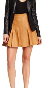 Halston Mini Skirt camel