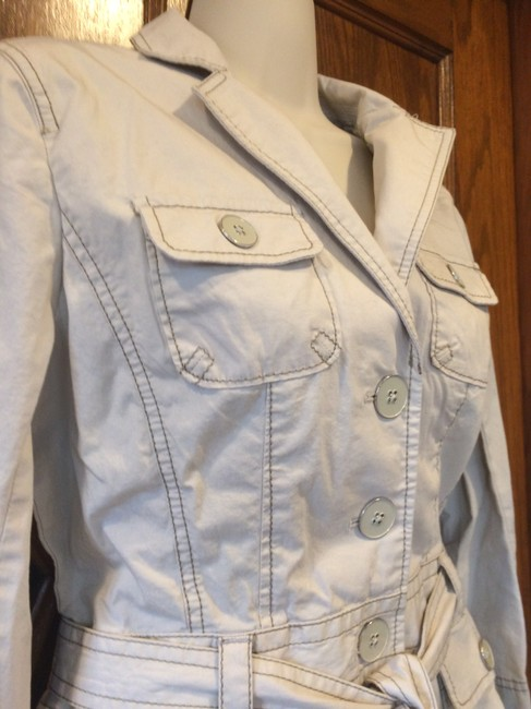 Ann Taylor LOFT Trench Safari Casual ivory Womens Jean Jacket
