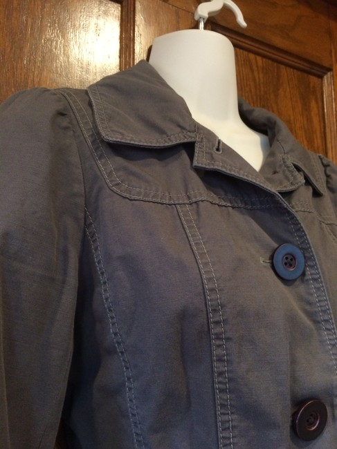 Ann Taylor LOFT Safari Trench grey Womens Jean Jacket