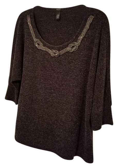 Preload https://img-static.tradesy.com/item/21295199/alfani-dark-grey-dolman-sleeve-embelished-neckline-sweaterpullover-size-18-xl-plus-0x-0-1-650-650.jpg