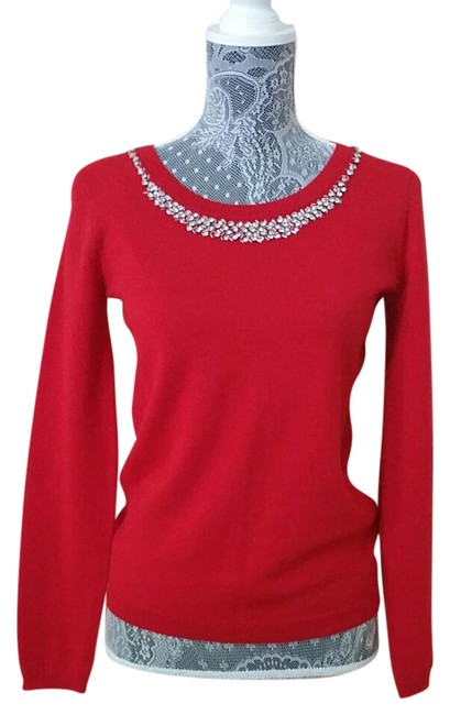 Preload https://item3.tradesy.com/images/cynthia-rowley-fine-wool-red-sweaterpullover-size-6-s-21295217-0-2.jpg?width=400&height=650