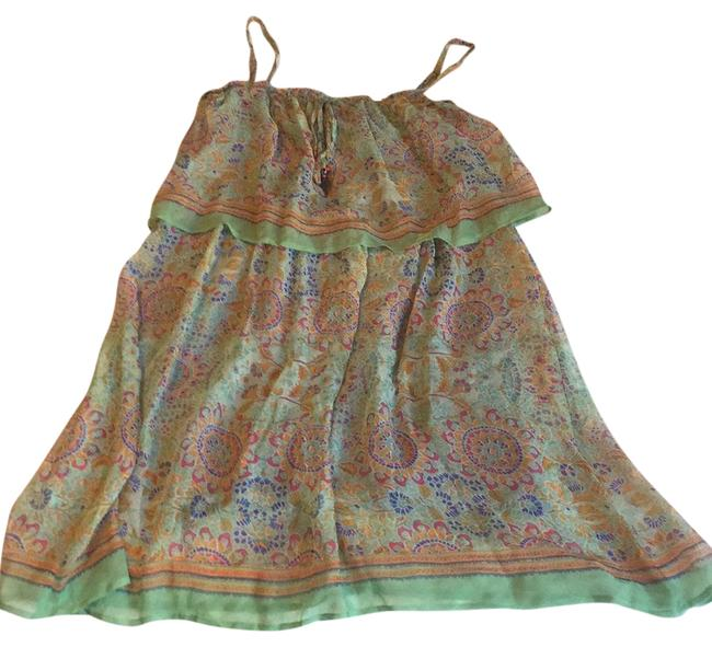 Preload https://img-static.tradesy.com/item/21295231/ella-moss-light-green-multi-colored-summer-short-casual-dress-size-8-m-0-1-650-650.jpg