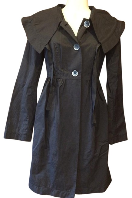 Preload https://img-static.tradesy.com/item/21295281/daisy-fuentes-black-trench-coat-size-4-s-0-1-650-650.jpg
