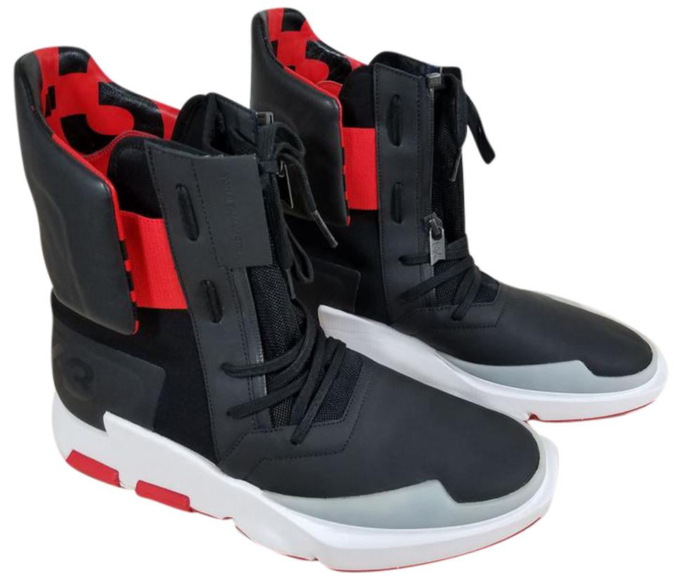 ad5af8ad9851 adidas Black Red Y-3 The Noci 0003 Men High Top Sneakers Sneakers ...
