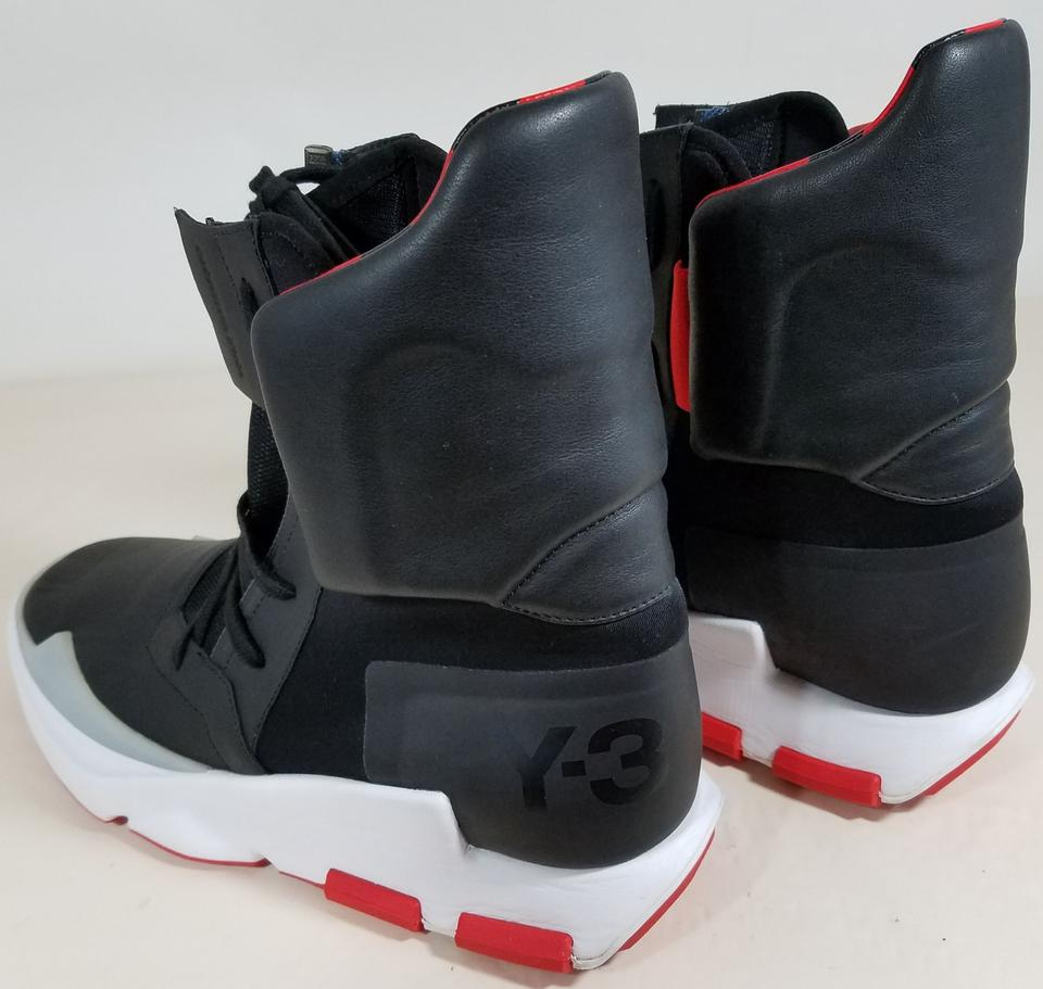 san francisco db814 a3fa3 adidas Black/Red Y-3 The Noci 0003 Men High Top Sneakers Size US 9.5 ...