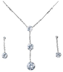 Other Swarovski Crystals Dainty Silver Y Necklace S13