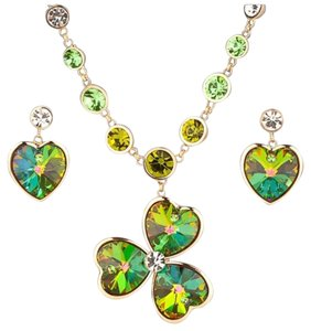 Other Swarovski Crystals The Erin Clover Necklace Set S10