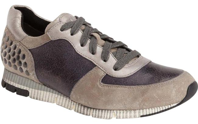 Item - Gray Silver and Calico Stud Detailing Sneakers Size US 10 Regular (M, B)