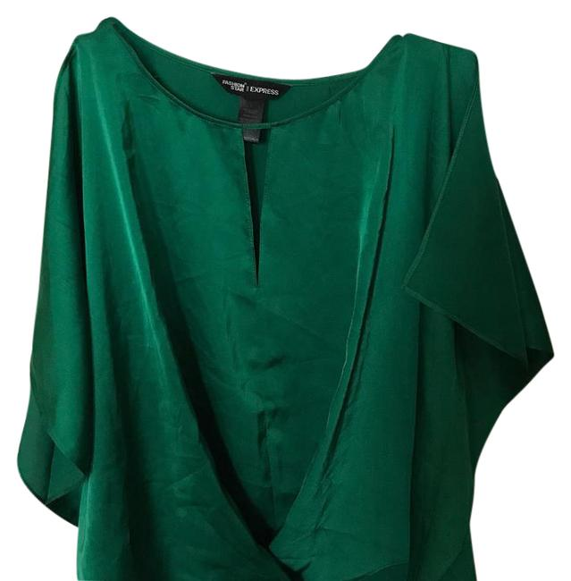 Preload https://item3.tradesy.com/images/express-green-split-sleeve-blouse-size-12-l-21295462-0-1.jpg?width=400&height=650