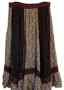 Free People Maxi Skirt black and white