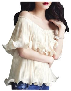 Other The Shoulder Ruffle Top Ivory
