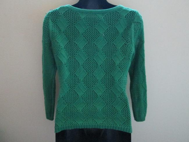 Anthropologie Spring Fall Emerald Sweater Cotton Cardigan