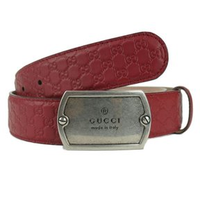 Gucci GUCCI 322293 Unisex MicroGuccissima Belt with Dog Tag 80 - 32