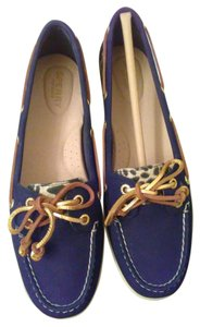 Sperry Black with leopard Flats