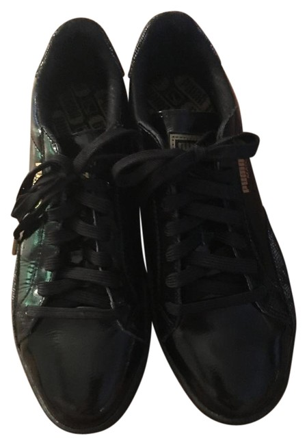 Puma Black Leather Sneakers Size US 10