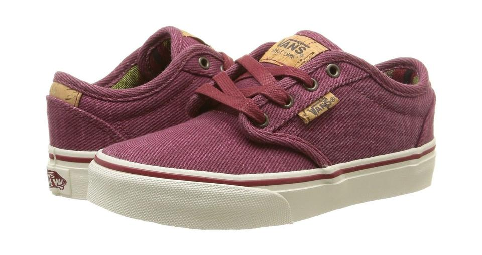 Vans Low-top Red/Marshmallow Atwood Deluxe Boys Low-top Vans Sneakers (Washed Twill/Red/Marshma Sneakers 13ca80