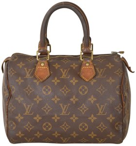 Louis Vuitton Monogram Speedy Speedy 25 Boston Satchel in Brown