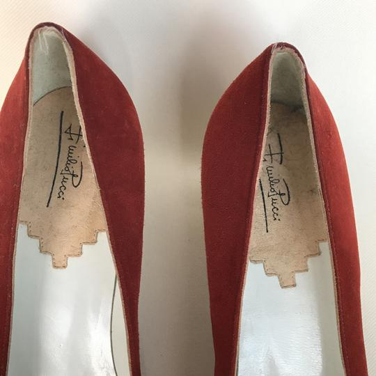 Emilio Pucci Suede Color-blocking Vintage Pumps