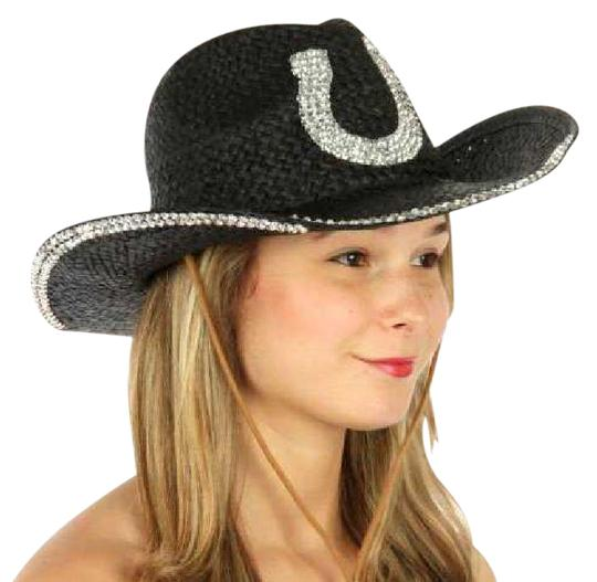 Preload https://img-static.tradesy.com/item/21295848/black-western-with-horse-shoe-embellishment-hat-0-1-540-540.jpg