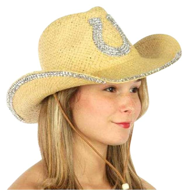 Neutral Western with Horse Shoe Embellishment Hat Neutral Western with Horse Shoe Embellishment Hat Image 1