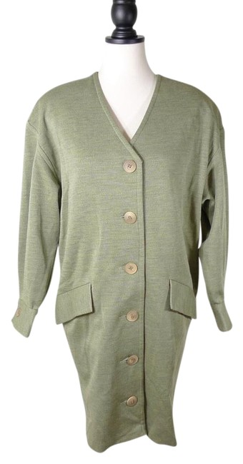 Preload https://img-static.tradesy.com/item/21295907/badgley-mischka-green-vintage-jacket-coat-size-petite-10-m-0-1-650-650.jpg