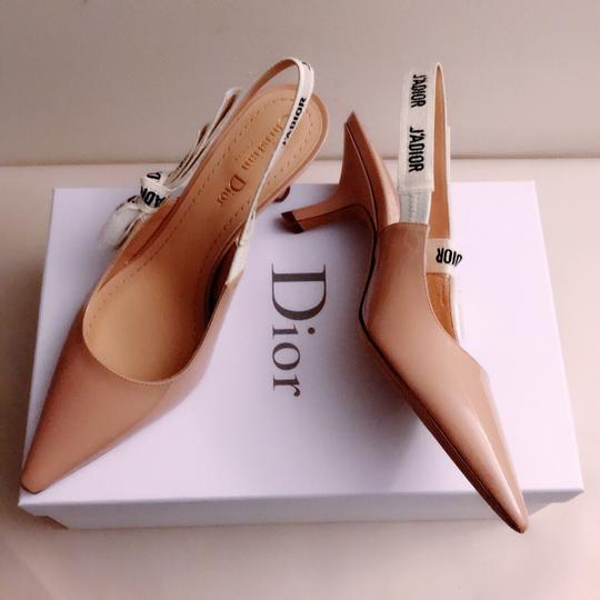 Dior Nude & White Pumps